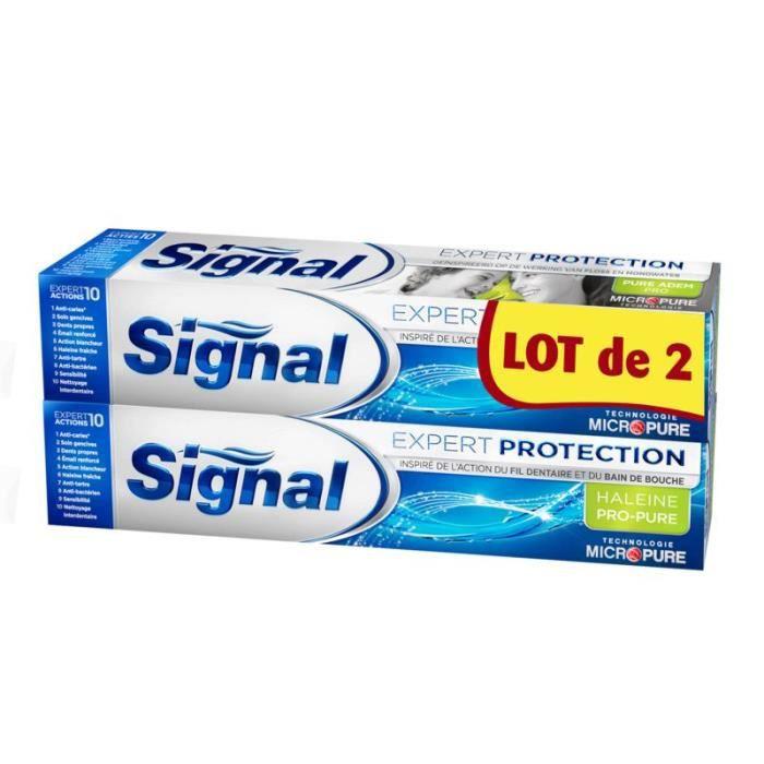 SIGNAL Dentifrice expert haleine - 2x75ml