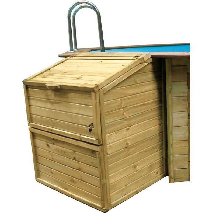 SUNBAY Coffre de filtration en bois pin sylvestre - Pour piscine H 1,19 m