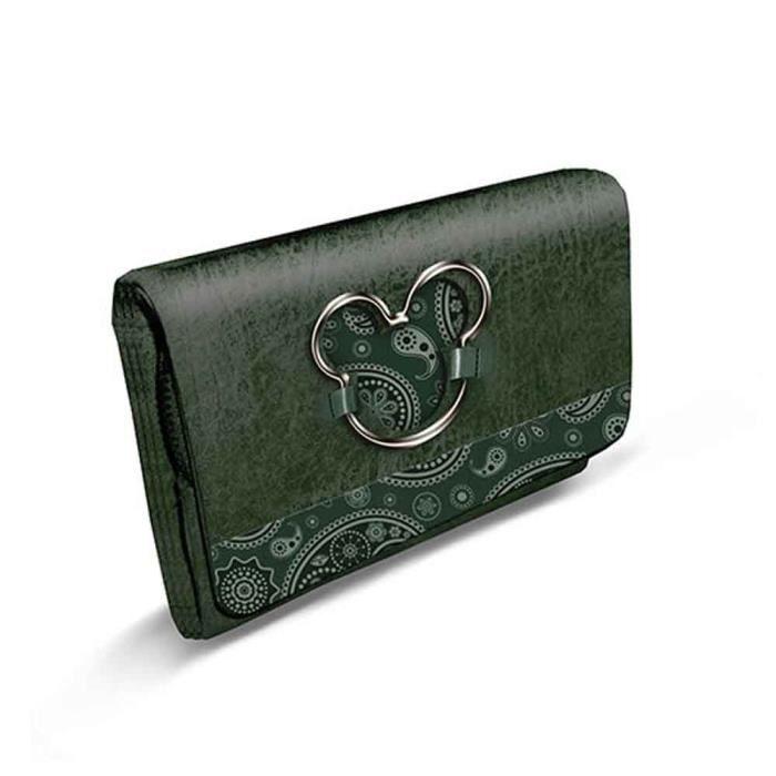 nouveaux prix plus bas profiter du meilleur prix matériaux de haute qualité Grand portefeuille Mickey Disney vert