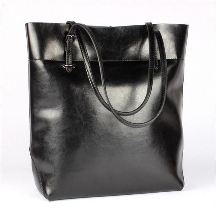 sac cuir noir Nouvelle mode sac a bandouliere femme sac cabas femme de marque Sac De Luxe Les Plus Vendu,