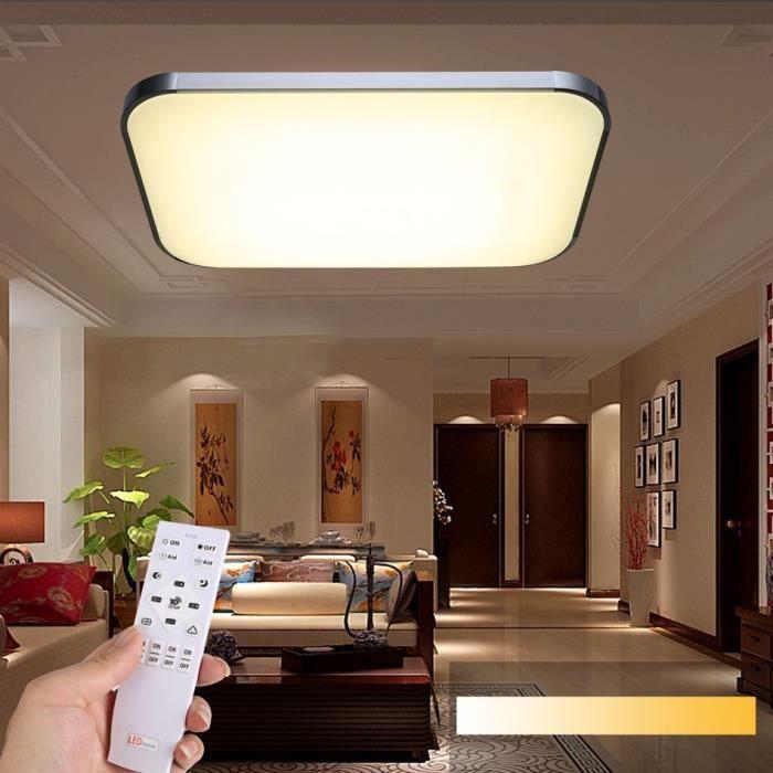 led plafonnier led salon de plafond led plafond lampe dimmable flush mont t l commande 36w. Black Bedroom Furniture Sets. Home Design Ideas