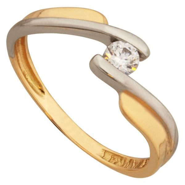 Solitaire Or 18K bicolore Oxyde ...