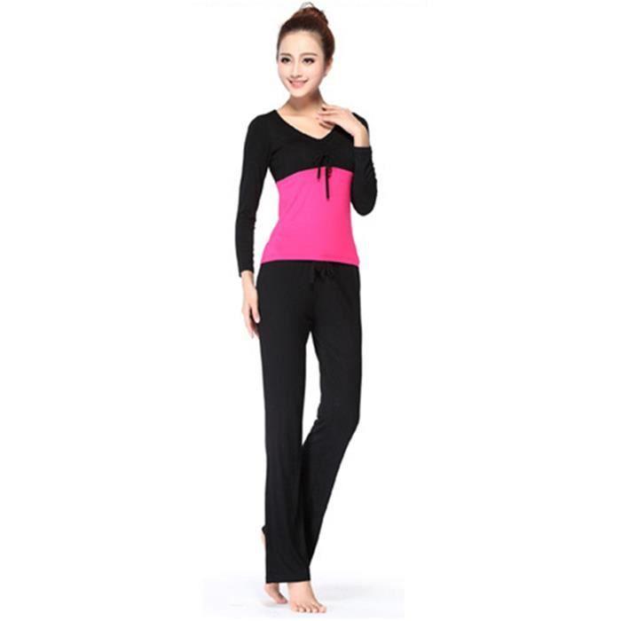 Super MiMode Ensemble Vêtement de Yoga Femme Tenue de Sport Danse  VQ31