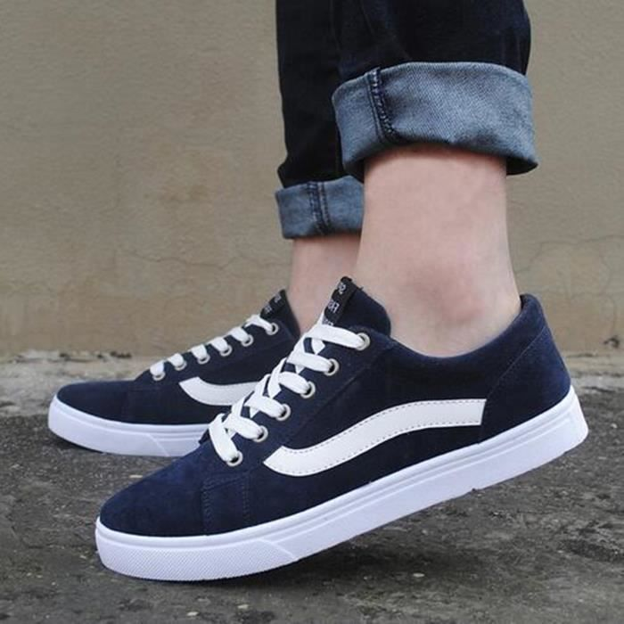 basse Suede Lace occasionnelles toile Hommes respirant chaussures chaussures hommes plat Classic chaussures up Casual 4ETEOn0xqz