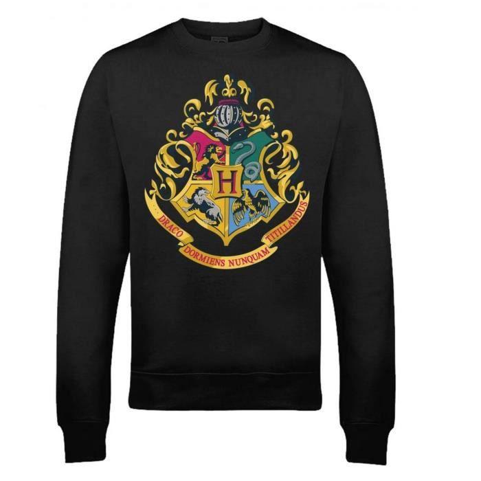 Pull L'écusson Potter Harry Poudlard Homme Avec Noir D29EHI