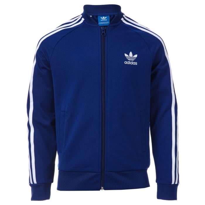 MANTEAU - CABAN Veste adidas Originals SST pour garçon en bleu