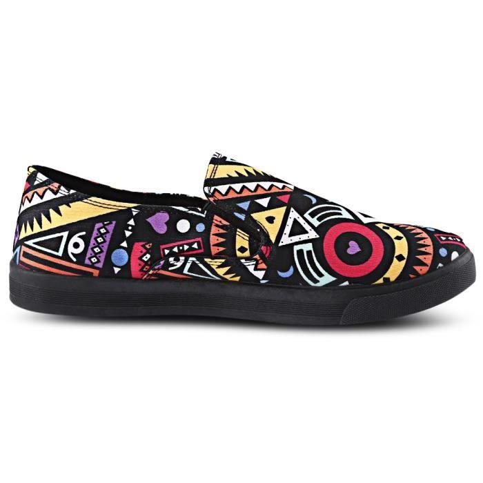 Male style Des Imprimer géométriques Slip motifs respirantes Chaussures de wxFxvqYP