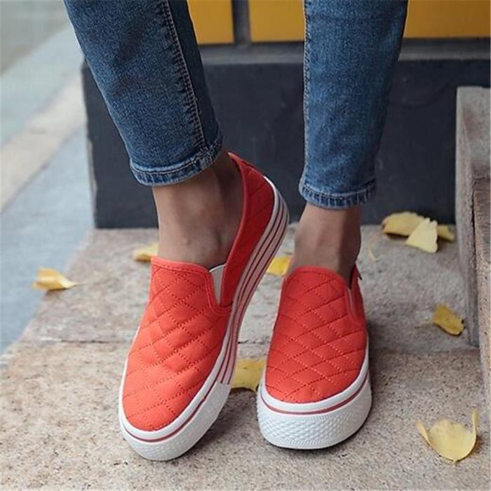 chaussure femmes Marque De Luxe 2017 ete Poids Léger Moccasin femmes en tissu Respirant Loafer chaussure Grande Taille 35-39