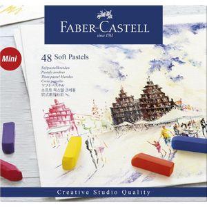 PASTELS - CRAIE D'ART FABER-CASTELL Boîte 48 Demi Pastels Carrés Tendres