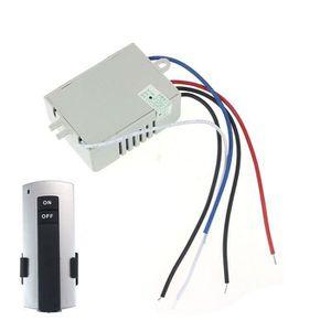 INTERRUPTEUR 220V sans fil 1Way Light télécommande interrupteur