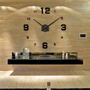 HORLOGE - PENDULE Art Luxury Grand Nombre Horloge murale 3D Home Dec