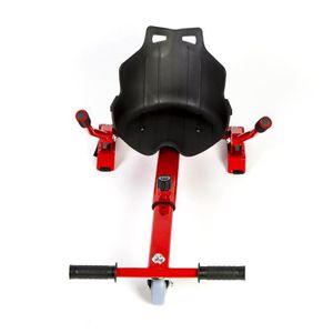 KART HoverKart - Complément Kart pour Hoverboard  Rouge