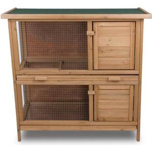CLAPIER Lapinière Poulailler 92x90x45 cm – Clapier cage po