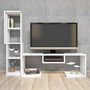 MEUBLE TV Meuble TV Bacio,  Couleur: Blanc