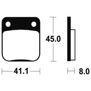 PLAQUETTES DE FREIN BENDIX Plaquettes de frein moto MO36 - Métal fritt