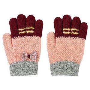b540ddc522e Gants Enfants Hiver Automne Moufles Tricoté Crochet à Laine Epais Filles  Garçons Chauds Multicolore Mitaine Mignon Douce Thermique