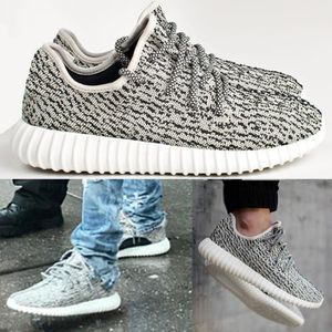 Chaussures inspiré yeezy boost 350 white black blanc