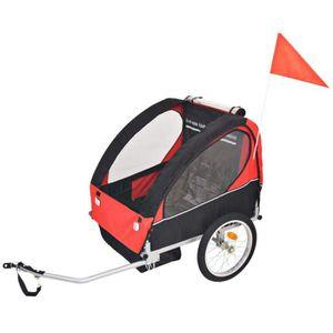 REMORQUE VÉLO Remorque de vélo poussete pour enfants rouge et no