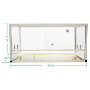 VIVARIUM - TERRARIUM Terrariums aluminium Elegance 120x50x50 white