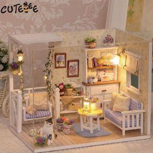 MAISON POUPÉE Mobilier de maison de poupée Diy Miniature Dust Co