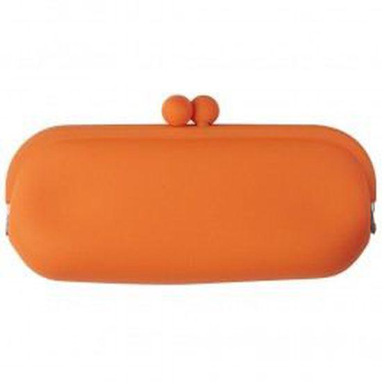 Etui à lunettes silicone orange - Achat   Vente etui a lunettes Mixte -  Soldes  dès le 9 janvier ! Cdiscount bd7bbb47c7f4