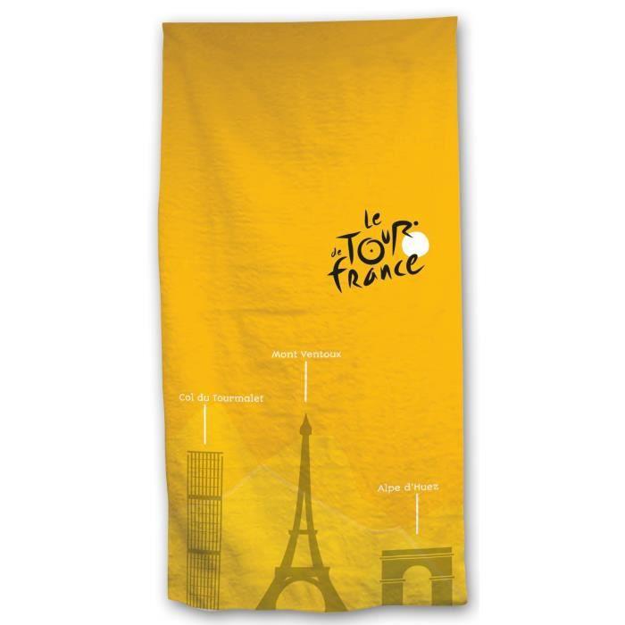 TOUR DE France Drap de plage 100% coton 70x140cm