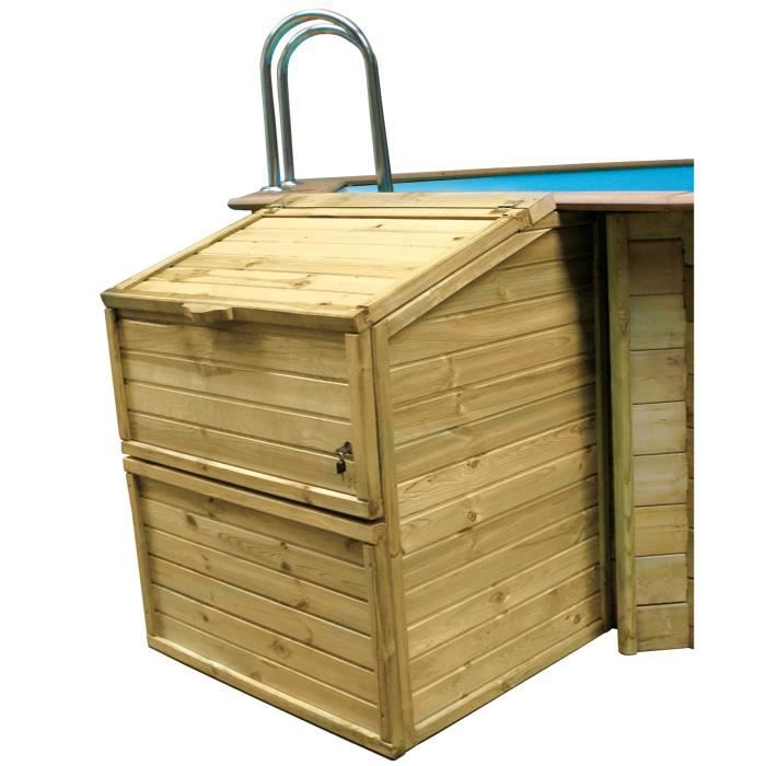 SUNBAY Coffre de filtration en bois pin sylvestre - Pour piscine H 1,33 m