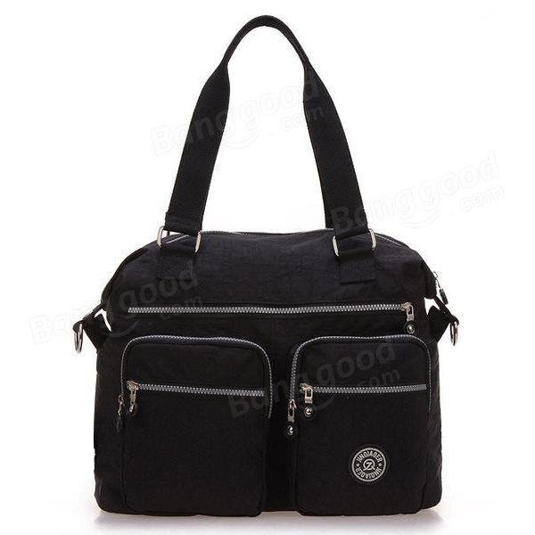 SBBKO3610Femmes sacs à main en nylon occasionnels sacs à bandoulière imperméable poche multiples crossbody extérieure sacs Noir