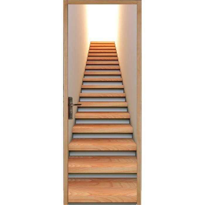 Stickers Porte Déco Montée D Escalier Réf Dimensions Xcm - Deco montee d escalier