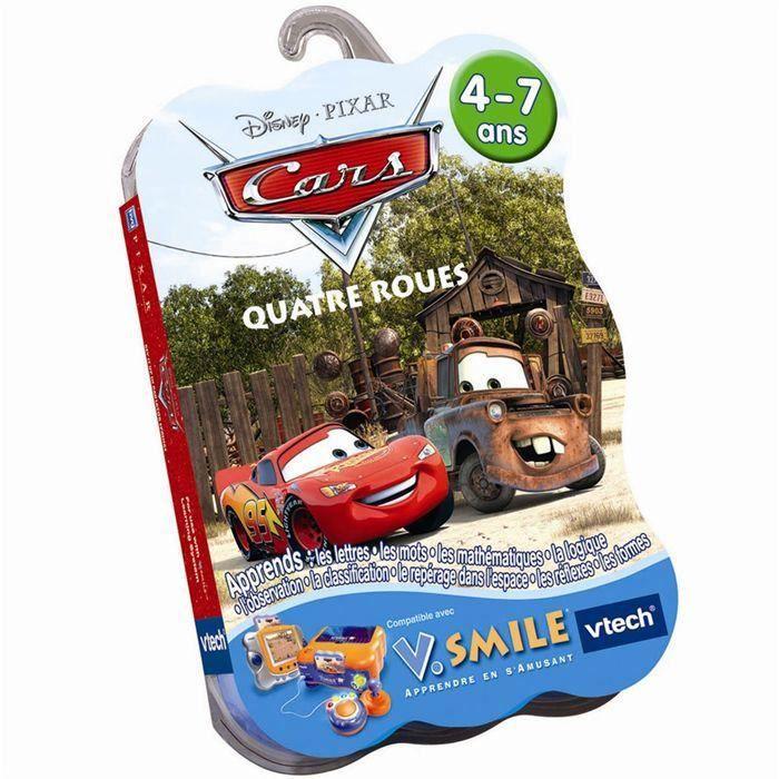 JEU CONSOLE ÉDUCATIVE CARS QUATRE ROUES JEU DISNEY VTECH V.SMILE