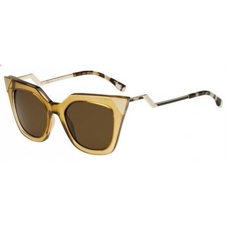 Achetez Lunettes de soleil Fendi Femme FF 0060 S MSY (EC) champagne noires 4bbc5920af70