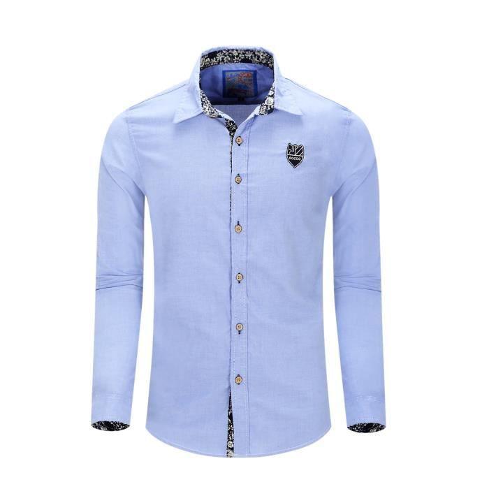 Chemise Oxford Homme Manche Longue Gris Chemise Homme Slim Fit Marque Luxe  Coton Chemises Pour Hommes Bleu Rose 708d8a82a23d