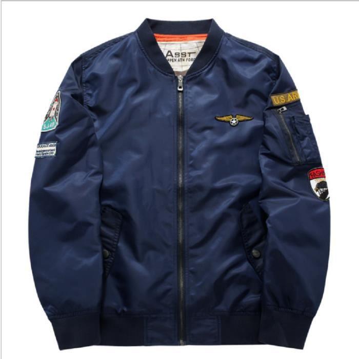 BLOUSON Ma1 Air Force Pilote Veste Hommes épaisse D'hiver