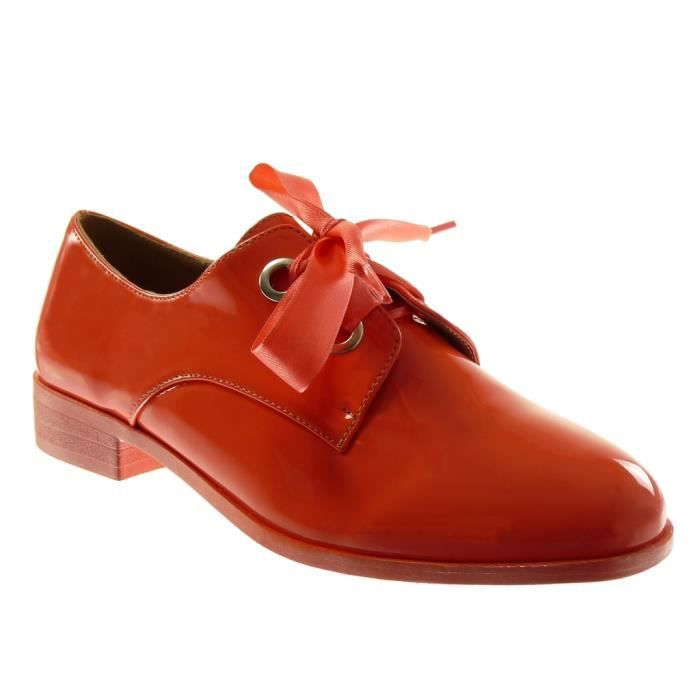 DERBY Angkorly - Chaussure Mode Derbies femme Lacet ruba