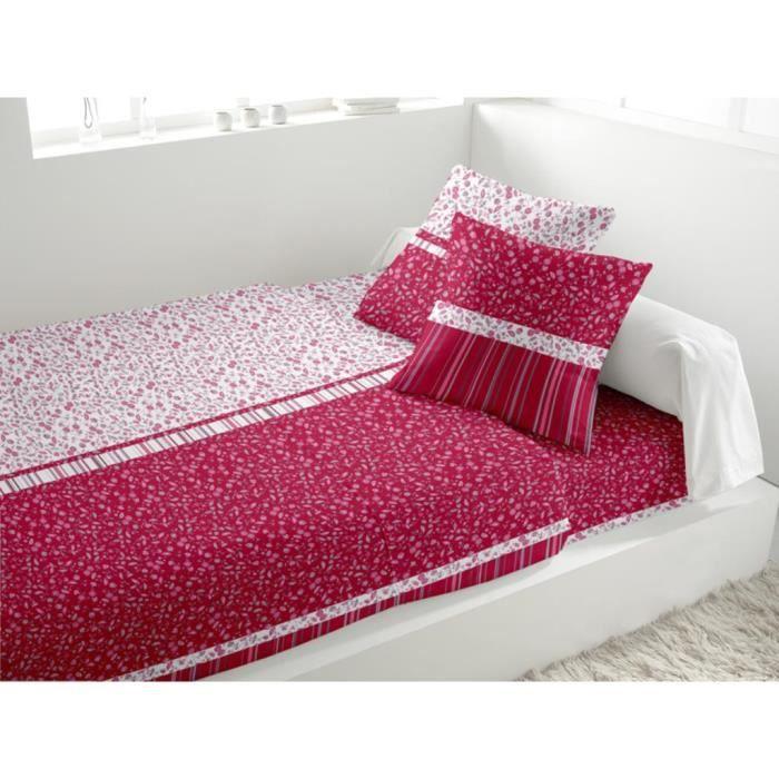 parure de lit 4 pi ces mistral framboise achat vente parure de drap cdiscount. Black Bedroom Furniture Sets. Home Design Ideas