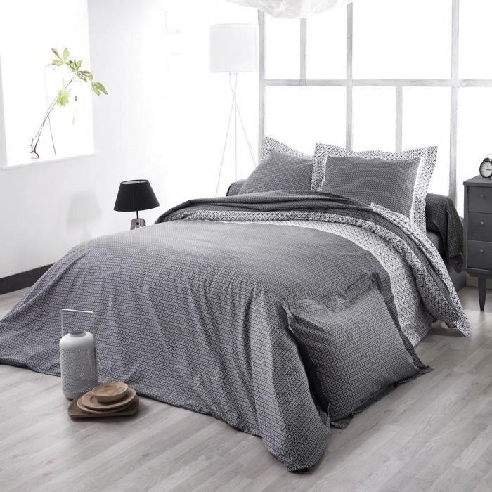 Parure de lit satin de coton Wesley noir HC~240x220+2TO