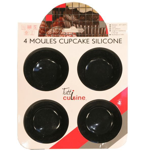 plaque cuisson silicone 4 moules cupcake achat vente moule moule 4 cupcake silicone cdiscount. Black Bedroom Furniture Sets. Home Design Ideas