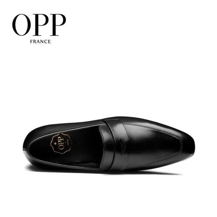 OPP Richelieu Cuir Chaussures Homme OD1644noir40 aYxGq