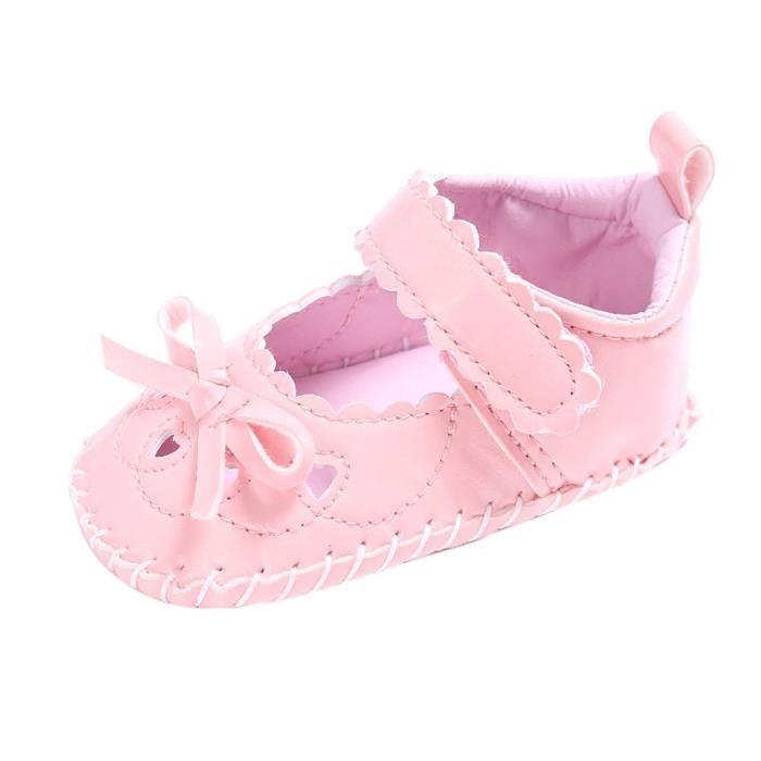 BOTTE Bébé nourrisson enfants fille en cuir Toddler nouveau-né chaussures@RoseHM