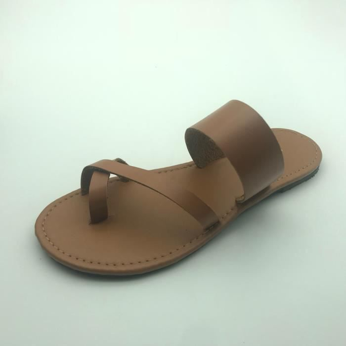 Casual Strappy Flip xe Flat Sandals Ankle Femmes 6724 Low Shoes Jaune Gladiator Summer Flops 5T4q7Xwg4