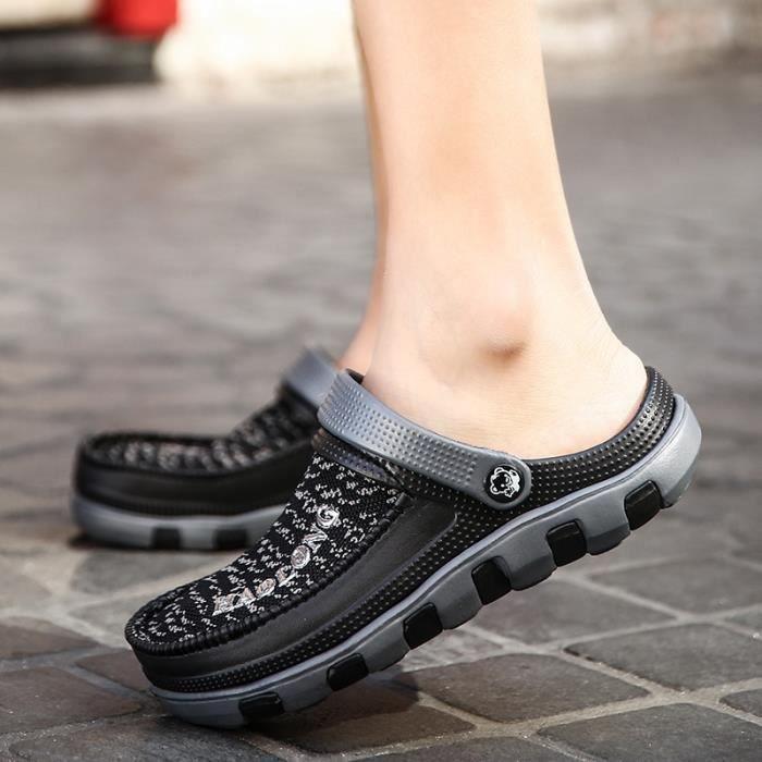 Fond épais Chaussures Sandales Rouge Chaussures de plage pour hommes