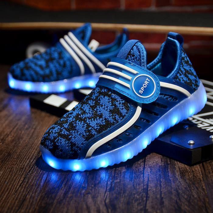 Baskets enfants Chaussures pour enfants LED Chaussures de sport flash colorées Taille 26-37 SYTHQWbP