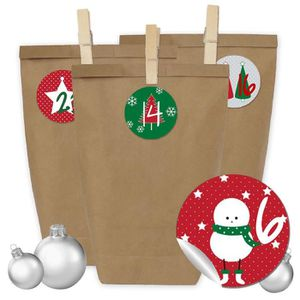 Calendrier de l'avent Bricolage Calendrier de l'Avent - 24 sacs-cadeaux