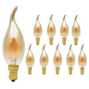 AMPOULE - LED ELINKUME Lot de 10 Ampoules LED Filament E14 4W Éq