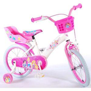 VÉLO ENFANT Vélo Enfant Fille Disney Princess 16 Pouces Blanc