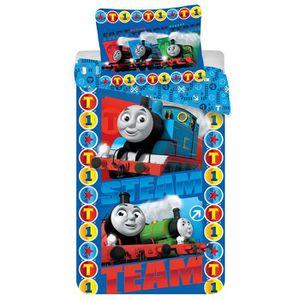 Lit Simple Parure De Lit Thomas the Tank Engine patch TRAIN BLEU vapeur Kids