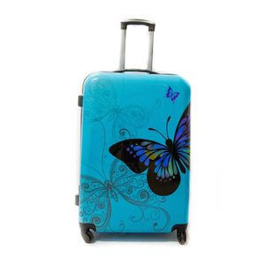 "VALISE - BAGAGE Valise Grande Taille 75cm 4 roues - ""Butterfly"" Tr"