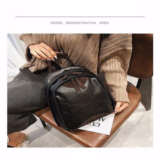 aff057509d Sacs À Dos Classique Cartable Femme Nouvelle Tendance Sac Noir Noir ...
