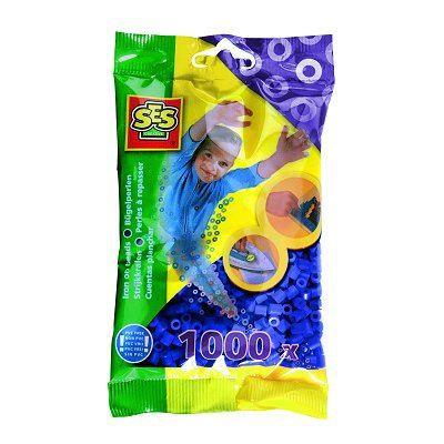 SES CREATIVE Lot de 1000 perles à repasser - Bleu foncé
