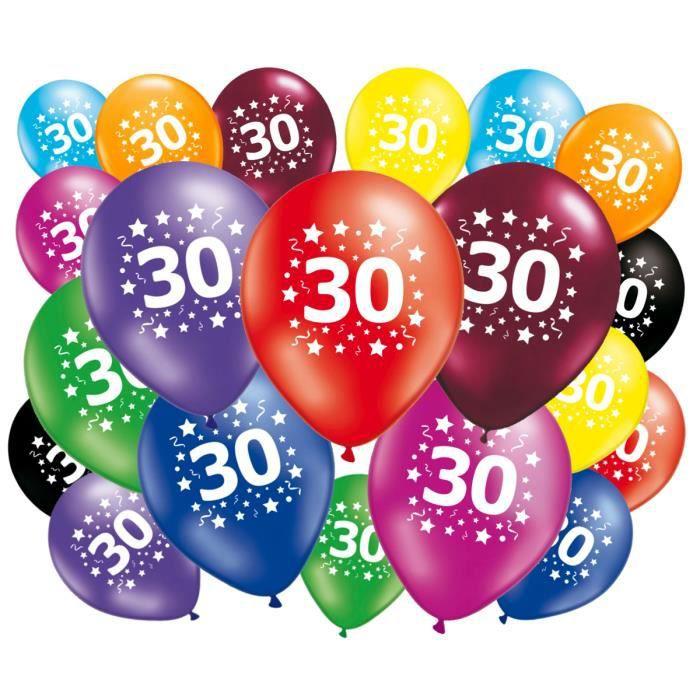20 ballons anniversaire 30 ans achat vente ballon for Decoration 30 ans